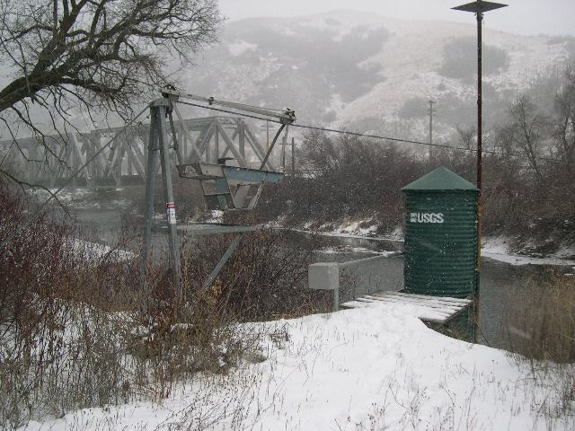 Image of river gauging station.
